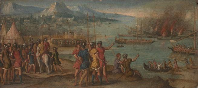 Italian, Venetian: 'A Naval Battle'