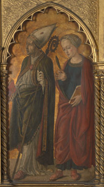 Attributed to Jacopo di Antonio (Master of Pratovecchio?): 'A Bishop (Donatus?) and a Female Martyr (Antilla?)'