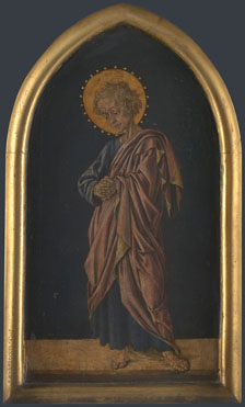 Attributed to Jacopo di Antonio (Master of Pratovecchio?): 'Saint John the Evangelist: Altarpiece Pinnacle (right)'