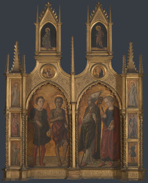 Attributed to Jacopo di Antonio (Master of Pratovecchio?): 'Pratovecchio Altarpiece'