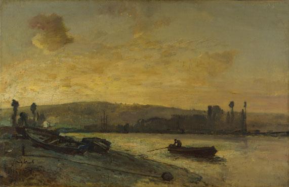 Johan Barthold Jongkind: 'River Scene'