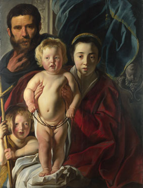 Jacob Jordaens: 'The Holy Family and Saint John the Baptist'