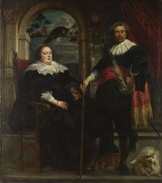 Jacob Jordaens: 'Portrait of Govaert van Surpele (?) and his Wife'