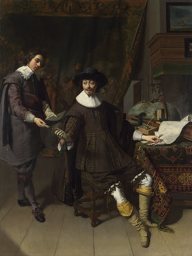 Thomas de Keyser: 'Portrait of Constantijn Huygens and his (?) Clerk'