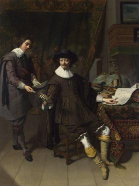 Thomas de Keyser: 'Portrait of Constantijn Huygens and his (?) Clerk'