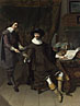 Portrait of Constantijn Huygens and his (?) Clerk