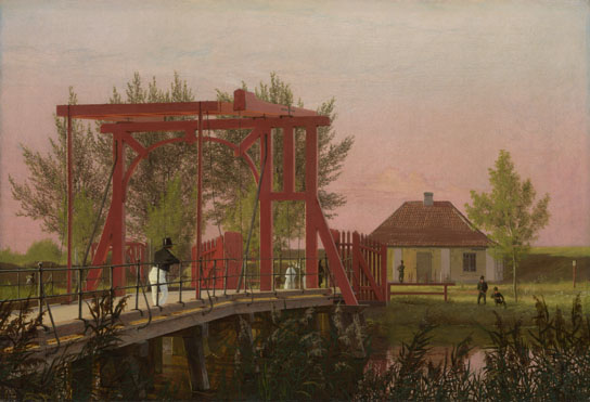 Christen Købke: 'The Northern Drawbridge to the Citadel in Copenhagen'
