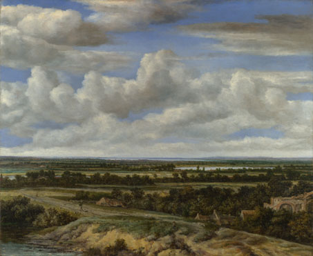 Philips Koninck: 'An Extensive Landscape with a Road by a River'