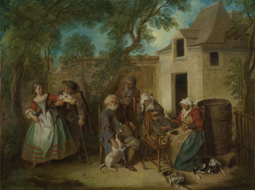 Nicolas Lancret: 'The Four Ages of Man: Old Age'