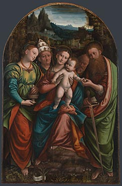 Bernardino Lanino: 'The Madonna and Child with Saints'