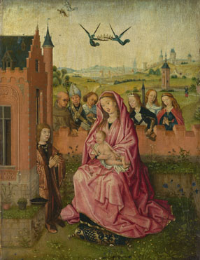 Follower of Lieven van Lathem: 'The Virgin and Child with Saints and Donor'