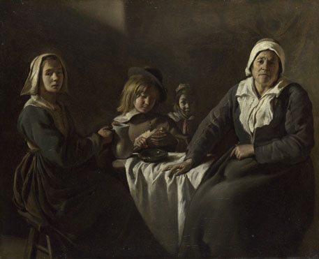 The Le Nain Brothers: 'Four Figures at a Table'