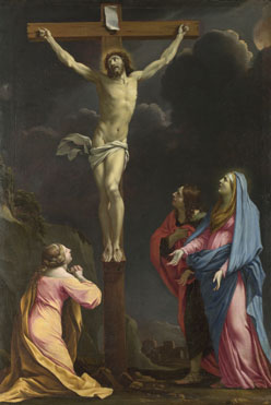 Eustache Le Sueur: 'Christ on the Cross with the Virgin and Saints'