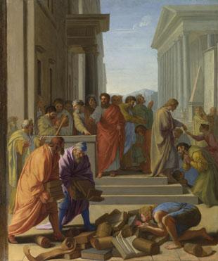 Eustache Le Sueur: 'Saint Paul preaching at Ephesus'