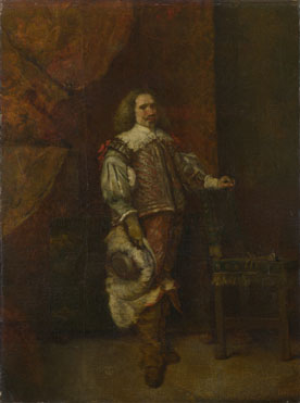 Attributed to Ignacio de Leon y Escosura: 'A Man in 17th-Century Spanish Costume'