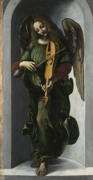 Associate of Leonardo da Vinci: 'An Angel in Green with a Vielle'