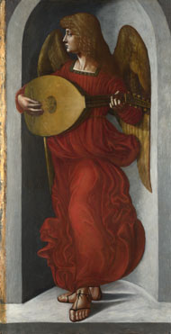 Associate of Leonardo da Vinci: 'An Angel in Red with a Lute'