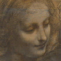 Detail from Leonardo da Vinci, 'The Leonardo Cartoon', about 1499-1500