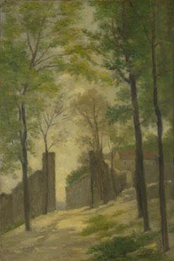 Stanislas-Victor-Edmond Lépine: 'A Gateway behind Trees'