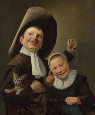 Judith Leyster: 'A Boy and a Girl with a Cat and an Eel'