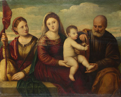 Bernardino Licinio: 'The Madonna and Child with Saints'