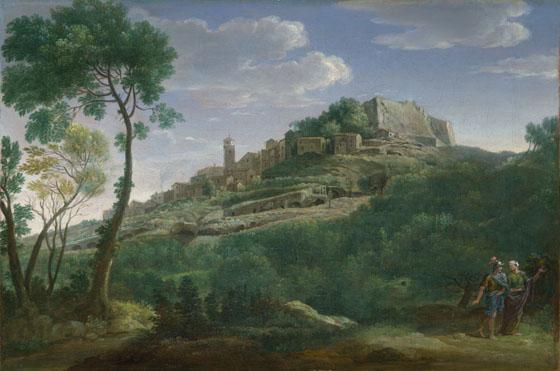 Hendrik Frans van Lint: 'A Landscape with an Italian Hill Town'