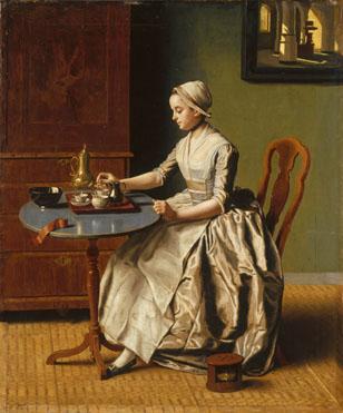 Jean-Etienne Liotard: 'A Lady pouring Chocolate ('La Chocolatière')'