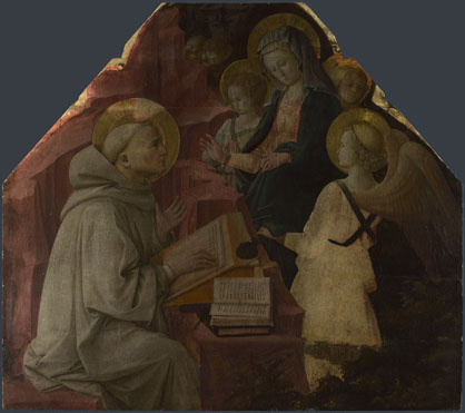 Fra Filippo Lippi: 'Saint Bernard's Vision of the Virgin'