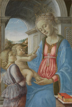 Imitator of Fra Filippo Lippi: 'The Virgin and Child with an Angel'