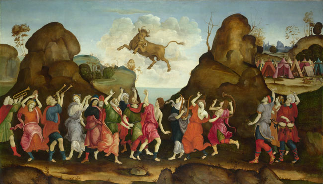 Follower of Filippino Lippi | The Worship of the Egyptian Bull God ...