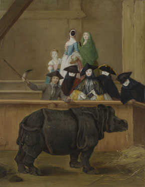 Pietro Longhi: 'Exhibition of a Rhinoceros at Venice'
