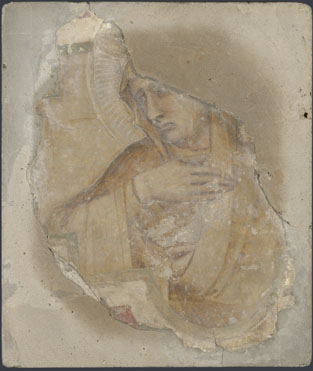 Workshop of Pietro Lorenzetti: 'A Female Saint in Yellow'