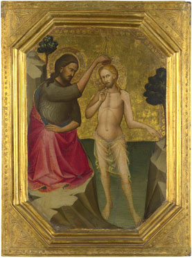Attributed to Lorenzo Monaco: 'The Baptism of Christ'