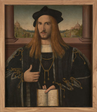 Attributed to Bernardino Loschi: 'Portrait of Alberto Pio'