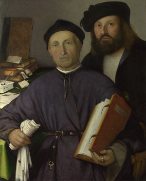 Lorenzo Lotto: 'Giovanni Agostino della Torre and his Son, Niccolò'