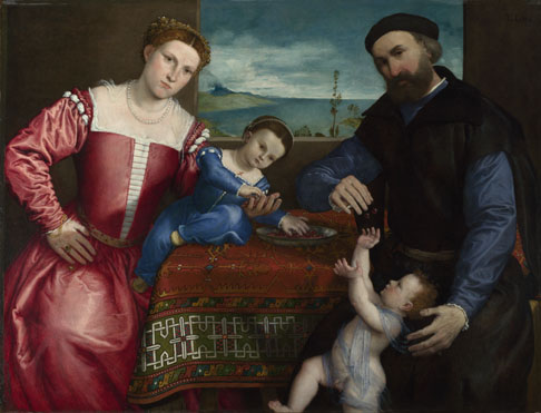 Lorenzo Lotto: 'Portrait of Giovanni della Volta with his Wife and Children'