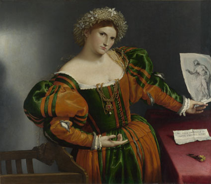 Lorenzo Lotto: 'Portrait of a Woman inspired by Lucretia'