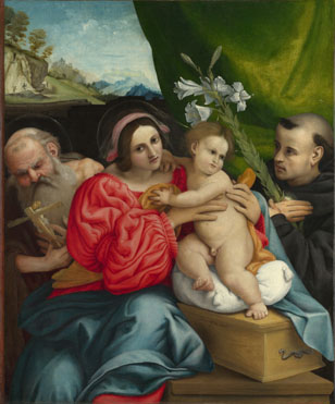 Lorenzo Lotto: 'The Virgin and Child with Saints'