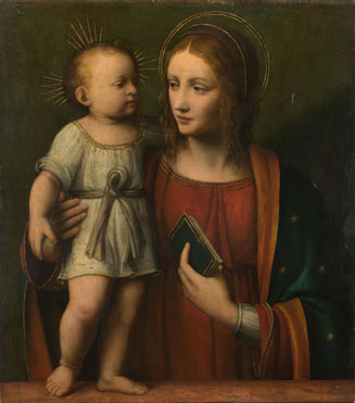 Workshop of Bernardino Luini: 'The Virgin and Child'