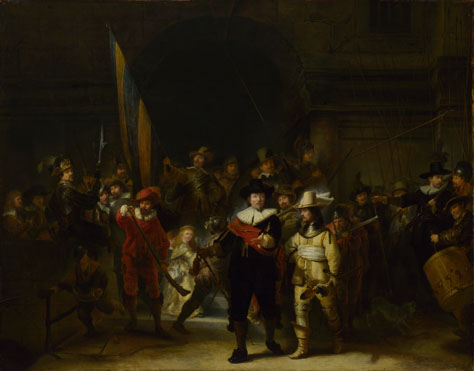 Gerrit Lundens (after Rembrandt): 'The Company of Captain Banning Cocq ('The Nightwatch')'