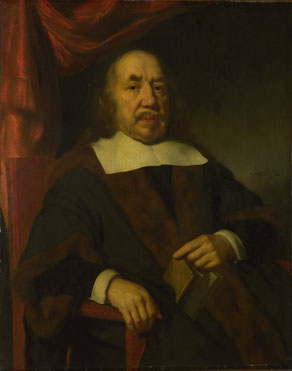 Nicolaes Maes: 'Portrait of an Elderly Man in a Black Robe'