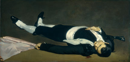 Edouard Manet, 'The Dead Toreador', probably 1864. National Gallery of Art, Washington.