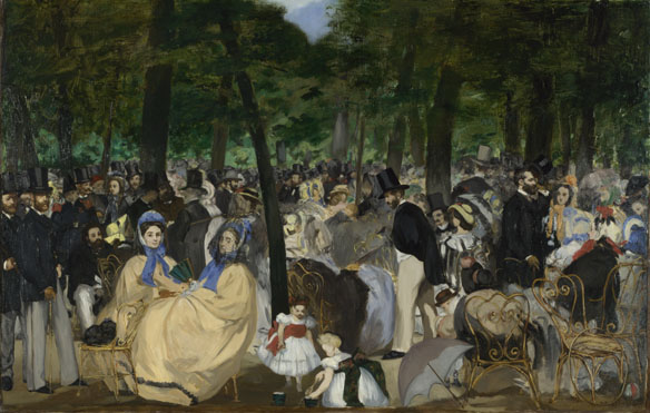 Edouard Manet: 'Music in the Tuileries Gardens'