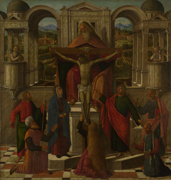 Giovanni Mansueti | Symbolic Representation of the Crucifixion ...