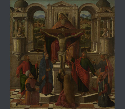 Giovanni Mansueti: 'Symbolic Representation of the Crucifixion'.