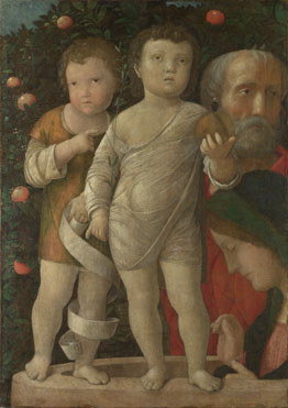 Andrea Mantegna: 'The Holy Family with Saint John'