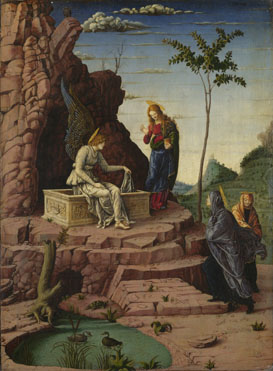 Imitator of Andrea Mantegna: 'The Maries at the Sepulchre'