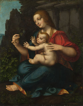 Attributed to Marco d'Oggiono: 'The Virgin and Child'