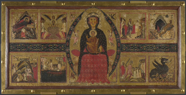 Margarito of Arezzo: 'The Virgin and Child Enthroned, with Narrative Scenes'