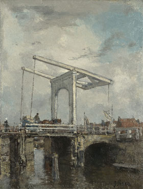 Jacob Maris: 'A Drawbridge in a Dutch Town'